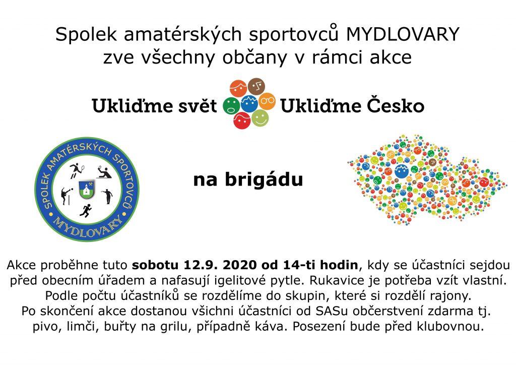 """Plakát """"Ukliďme Česko"""""""